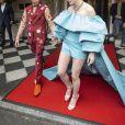 """Cole Sprouse et Lili Reinhart dans une tenue signée Salvatore Ferragamo quittent The Pierre Hotel pour se rendre au 71ème Met Gala """"Camp: Notes on Fashion"""", à New York, le 6 Mai 2019."""