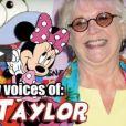 Vidéo consacrée à la comédienne de doublage Russi Taylor, qui fut la voix de Minnie Mouse de 1986 à sa mort en juillet 2019, ainsi que d'autres personnages du monde de l'animation.