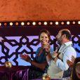 """Exclusif - Jamel Debbouze, Julia Vignali et son compagnon Kad Merad - Les célébrités lors du festival """"Marrakech du Rire 2018"""" à Marrakech, Maroc, le 24 juin 2018. © Rachid Bellak/Bestimage"""