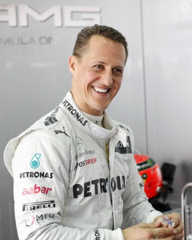 Michael Schumacher lors des essais du Grand Prix de Formule 1 de Malaisie. Le 23 mars 2012.