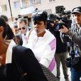 La mère d'A$AP Rocky, Renee Black, assise à l'ouverture du procès de son fils à Stockholm. Le 30 juillet 2019.