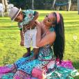 Jordan Craig et son fils Prince, né de sa précédente relation avec Tristan Thompson. 2019.