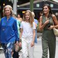 La reine Sofia, la princesse Leonor, la reine Letizia - La famille royale d'Espagne dans les rues de Majorque. Le 1er août 2019