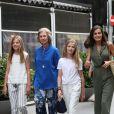 La princesse Sofia, la reine Sofia, la princesse Leonor, la reine Letizia - La famille royale d'Espagne dans les rues de Majorque. Le 1er août 2019