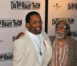 Spike Lee et son père Bill fêtent les 20 ans du film  Do The Right Thing au Directors Guild of America Theatre, à NYC hier