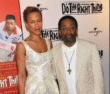 Spike Lee et sa femme fêtent les 20 ans du film  Do The Right Thing au Directors Guild of America Theatre, à NYC hier