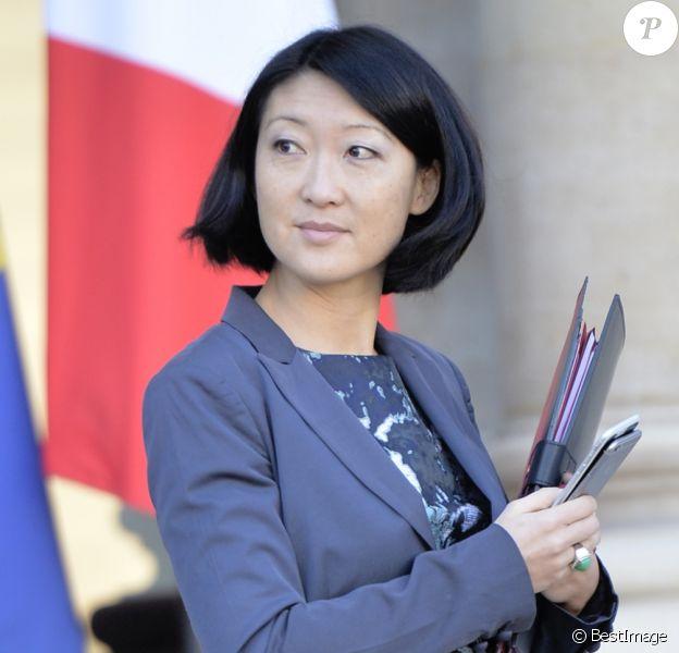 Fleur Pellerin sortant du conseil des ministres au Palais de l'Elysée à Paris, le 9 décembre 2015.