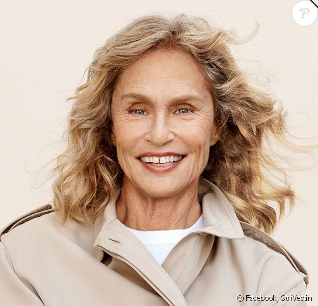 Lauren Hutton, 75 ans, est la nouvelle ambassadrice de la marque StriVectin. Août 2019.