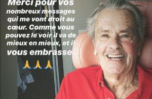 Alain Delon : Première photo rassurante après son AVC et son opération