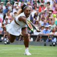 Serena Williams lors de la finale du tournoi de Wimbledon contre Simona Halep le 13 juillet 2019.