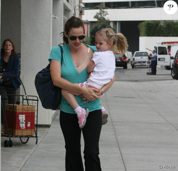 Jennifer Garner et sa fille Violet à los Angeles, (1er juillet 2009)
