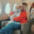 Darina Vartan-Scotti en vacances au Portugal chez son frère David Hallyday, août 2019.