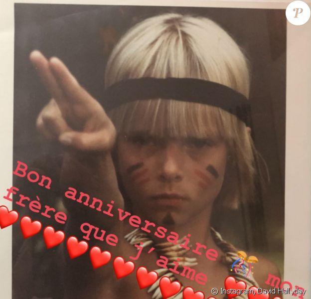 Laura Smet souhaite un joyeux 53e anniversaire à son demi-frère David Hallyday le 14 août 2019.