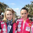 Jazmin Grace Grimaldi (la fille du prince A. II de Monaco), Pauline Ducruet - Départ du 28ème Rallye Aicha des Gazelles depuis la Promenade des Anglais à Nice le 17 mars 2018.