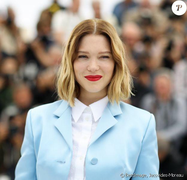 """Léa Seydoux au photocall du film """"Roubaix, une lumière (Oh mercy!)"""" lors du 72ème Festival International du film de Cannes, France, le 23 mai 2019. © Jacovides-Moreau/Bestimage"""