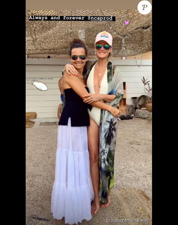 Laeticia Hallyday aux côtés de son amie Cécile Angeli à Saint-Barthélemy. Instagram, le 20 août 2019.