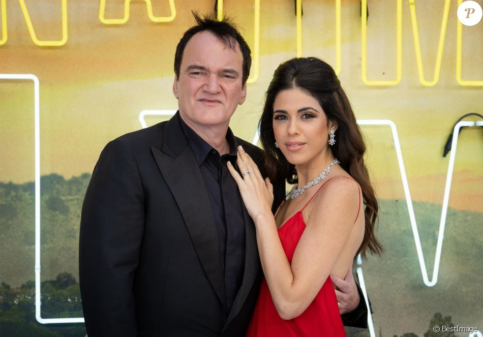 "Quentin Tarantino et sa femme Daniella Pick - Avant-première du film ""Once Upon a Time in Hollywood"" au Odeon Leicester Square à Londres, le 30 juillet 2019."