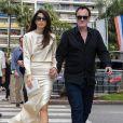 Exclusif - Quentin Tarantino et sa femme Daniella Pick arrivent à la cérémonie des Palm Dog lors du 72ème Festival International du film de Cannes, France, le 24 mai 2019.