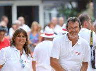 Jean-Luc Reichmann et sa femme Nathalie, duo complice à Saint-Tropez
