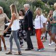 José Pietroboni, chef du protocole, Brigitte Macron - La première dame Brigitte Macron et les conjoints des chefs d'état visitent la Côte des Basques à Biarritz en marge du sommet du G7 le 26 août 2019. © Stéphane Lemouton / Bestimage