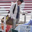 Brad Pitt arrive à Venise pour assister à la 76e Mostra. Le 27 août 2019.