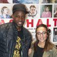"""Abd al Malik et sa femme Wallen - Avant-première du film """"Asphalte"""" à Paris le 6 octobre 2015."""