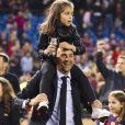 Luis Enrique et sa fille - Le FC Barcelone remporte la Coupe du Roi contre Séville et s'offre le doublé à Madrid en Espagne le 22 mai 2016.