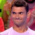 """Romain est éliminé des """"12 Coups de midi"""" sur TF1 face à Jean-Luc Reichmann. Le 12 septembre 2017."""