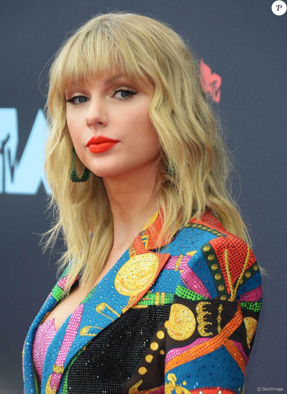 Taylor Swift au photocall des MTV video music awards au Prudential Center à Newark le 26 août 2019.
