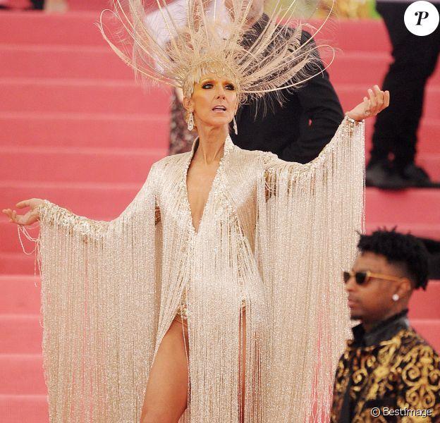 """Celine Dion - Arrivées des people à la 71ème édition du MET Gala (Met Ball, Costume Institute Benefit) sur le thème """"Camp: Notes on Fashion"""" au Metropolitan Museum of Art à New York le 6 mai 2019"""