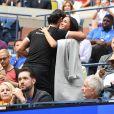 Meghan Markle, duchesse de Sussex, au côté de Anna Wintour, Venus Williams, Patrick Mouratoglou et Alexis Ohanian (le mari de S. Williams) dans les tribunes de la finale femme du tournoi de l'US Open 2019 opposant Serena Williams à Bianca Andreescu (3-6 / 5-7) au Billie Jean King National Tennis Center à New York, le 7 septembre 2019.