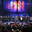 Le magnifique choeur de gospel... devant le cercueil de Michael, au Staples Center, le 7 juillet 2009.