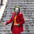 """Joaquin Phoenix sur le tournage du film """"The Joker"""" dans les rues de New York, le 2 décembre 2018."""