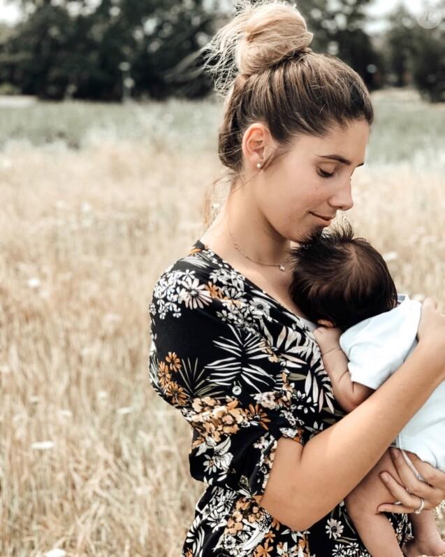 """Jesta de """"Koh-Lanta"""" avec son fils Juliann, le 26 août 2019"""