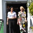 Meghan Markle, duchesse de Sussex est au magasin John Lewis sur Oxford Street pour le lancement de sa collection capsule Smart Works à Londres le 12 septembre 2019.