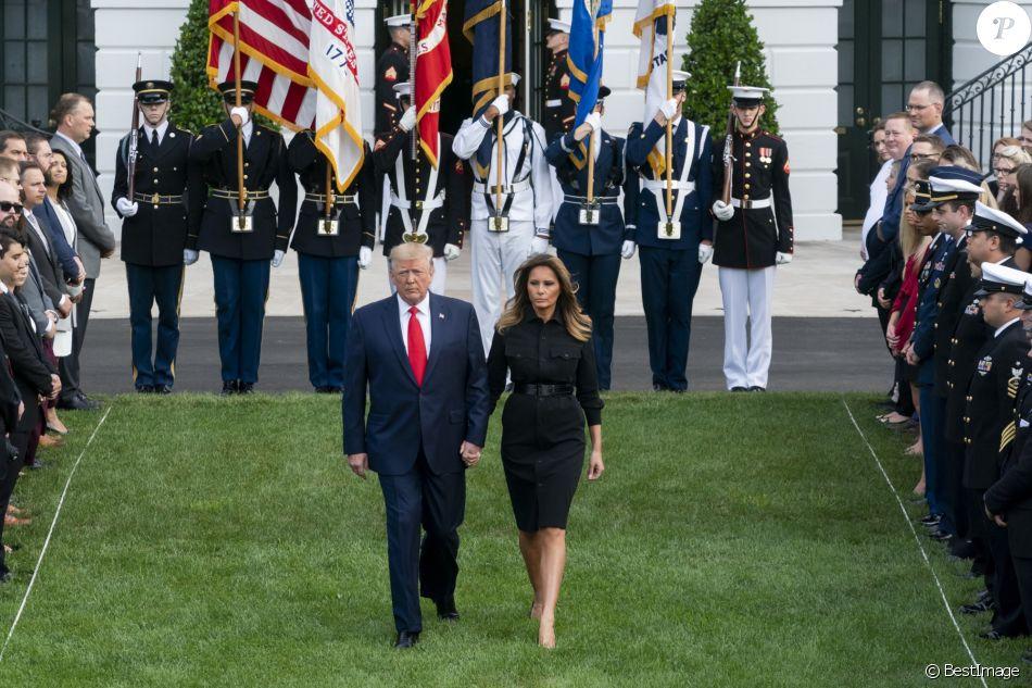 Donald Trump et Melania Trump participent à la 18ème commémoration de l'attaque terroriste du 11 septembre 2001 à la Maison Blanche, le 11 septembre 2019.