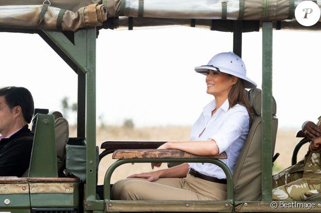 Melania Trump visite le Parc National de Nairobi, à l'occasion de son voyage officiel au Kenya. Le 5 octobre 2018