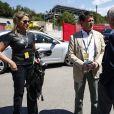 Manuel Valls et Susana Gallardo au Grand Prix d'Espagne sur le circuit de Barcelone-Catalogne à Barcelone, Espagne, le 12 mai 2019.