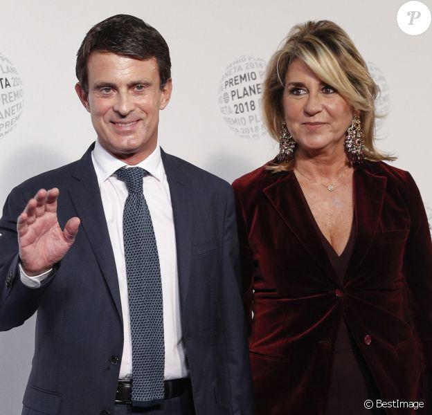 "Manuel Valls et Susanna Gallardo - Soirée ""Los Premios Planeta 2018 awards"" à Barcelone en Espagne le 15 octobre 2018."