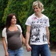 L'attaquant espagnol de Liverpool Fernando Torres et Olalla... peu de temps avant la naissance de leur petite Nora !
