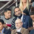 Saïd Taghmaoui dans les tribunes lors du match UEFA Ligue des Champions groupe A, opposant le Paris Saint-Germain (PSG) au Real Madrid au Parc des Princes à Paris, France, le 18 septembre 2019. Le PSG a gagné 3-0. © Cyril Moreau/Bestimage