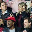 Wanda Nara (femme de Mauro Icardi), et son fils Valentino López dans les tribunes lors du match UEFA Ligue des Champions groupe A, opposant le Paris Saint-Germain (PSG) au Real Madrid au Parc des Princes à Paris, France, le 18 septembre 2019. Le PSG a gagné 3-0. © Cyril Moreau/Bestimage