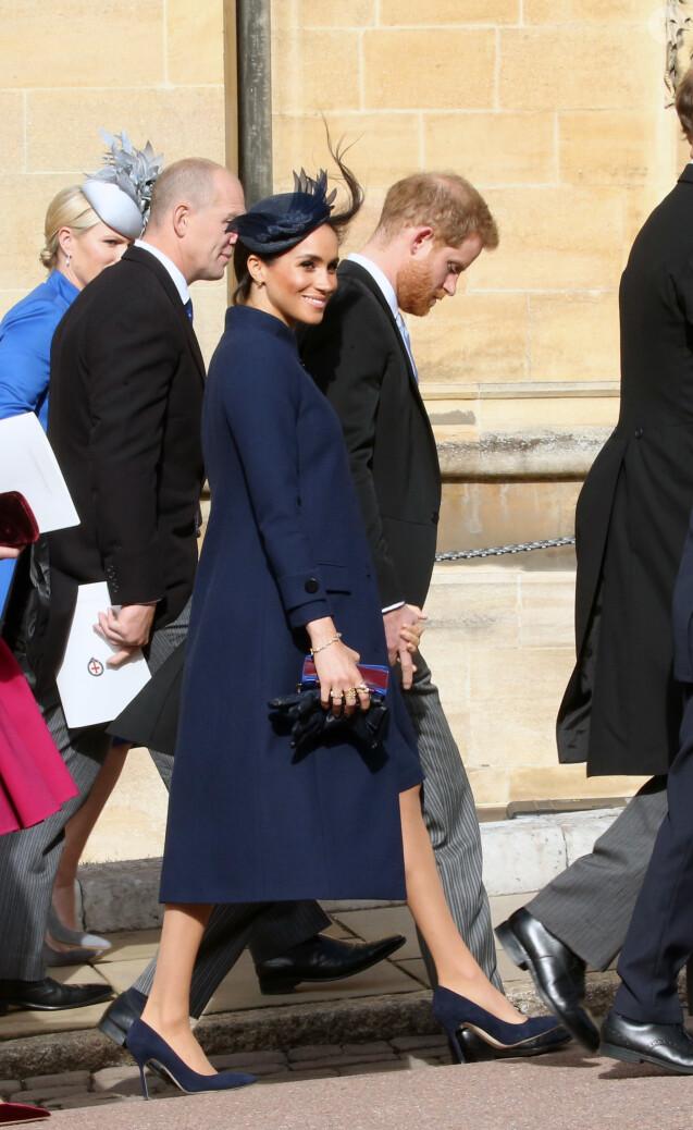 Le prince Harry, duc de Sussex, Meghan Markle, duchesse de Sussex - Arrivées des invités au mariage de la princesse Eugenie d'York et de Jack Brooksbnak à la chapelle Saint George de Windsor le 12 octobre 2018.