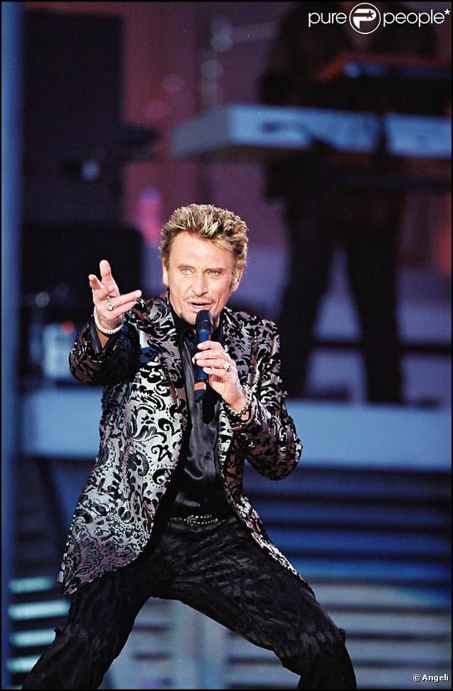 Johnny Hallyday lors du concert de l'an 2000 au pied de la Tour Eiffel