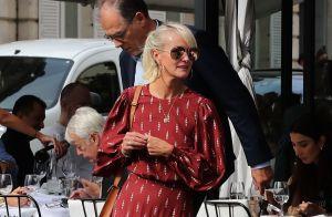 Laeticia Hallyday à Paris : look automnal pour déjeuner dans un restaurant chic