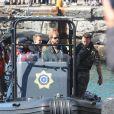 Le prince Harry, duc de Sussex, s'est rendu à l'Unité de Marine du Cap en Afrique du Sud le 24 septembre 2019 pour voir les efforts déployés dans la lutte contre le braconnage des ormeaux.