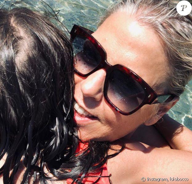 Laurence Boccolini en vacances avec sa fille Willow aux Iles Feroés, le 28 juillet 2019