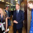 Le prince William rencontre l'équipe féminine de water polo britannique, avec l'ancienne joueuse Joanna Wray