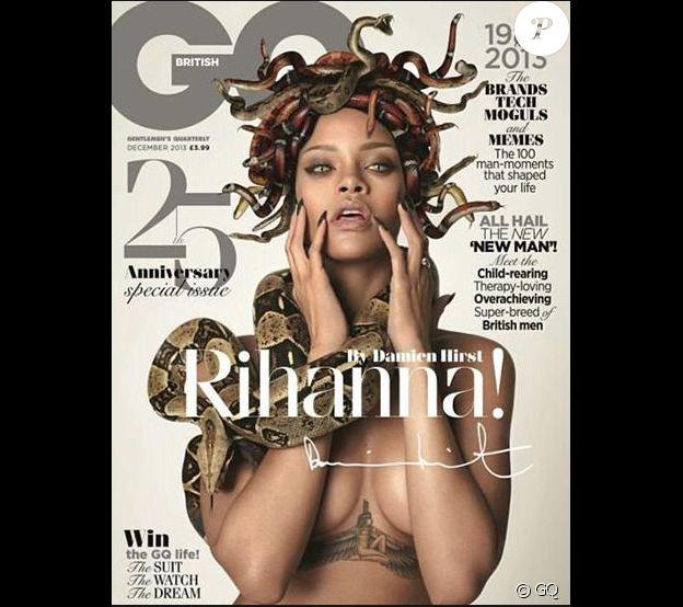 Rihanna en couverture de GQ- Décembre 2013.