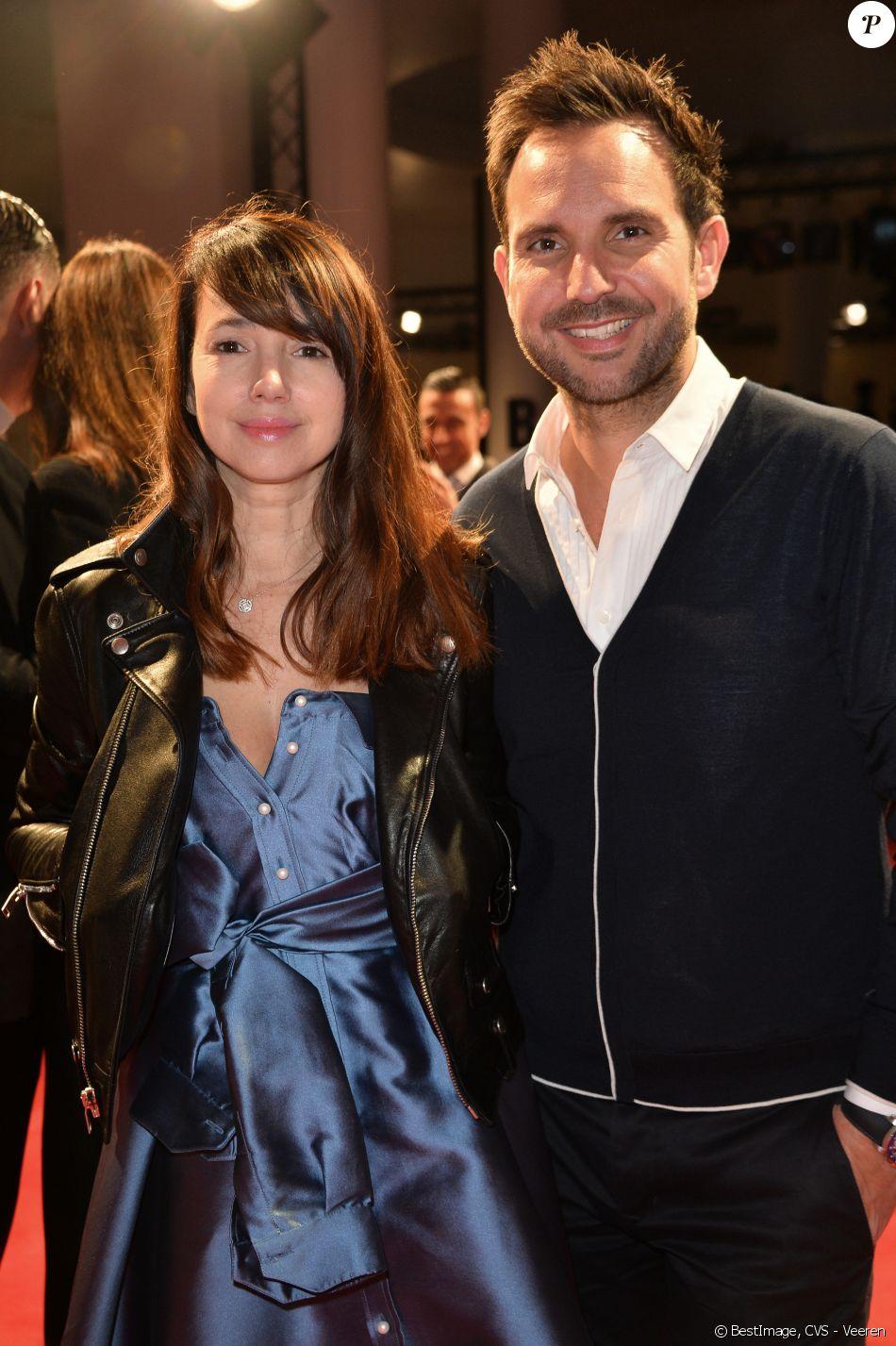 Christophe Michalak et sa femme Delphine McCarty - People au défilé de mode Alexis Mabille ...